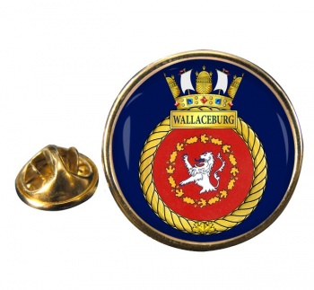 HMCS Wallaceburg Round Pin Badge