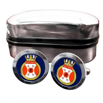 HMCS Whitethroat Round Cufflinks