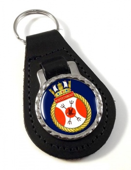 HMCS Whitethroat Leather Key Fob