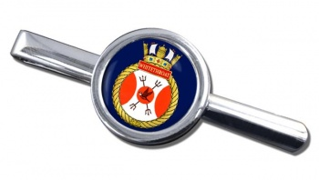 HMCS Whitethroat Round Tie Clip
