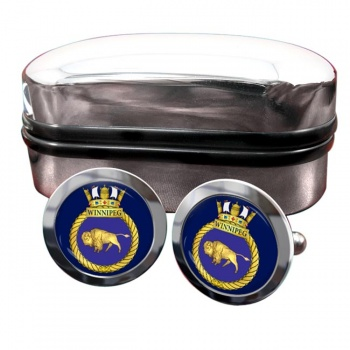 HMCS Winnipeg Round Cufflinks