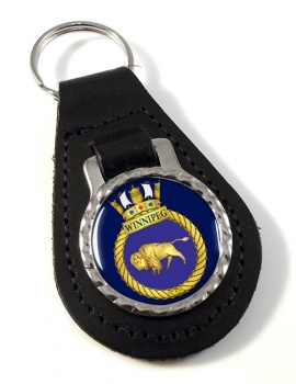 HMCS Winnipeg Leather Key Fob