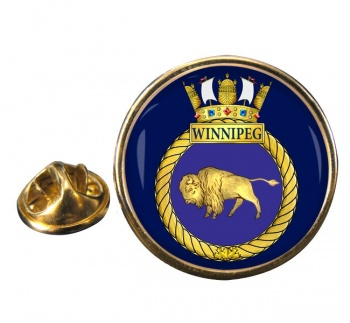 HMCS Winnipeg Round Pin Badge