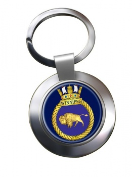 HMCS Winnipeg Chrome Key Ring