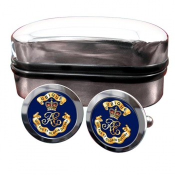 Royal Engineers Cypher (British Army) Round Cufflinks