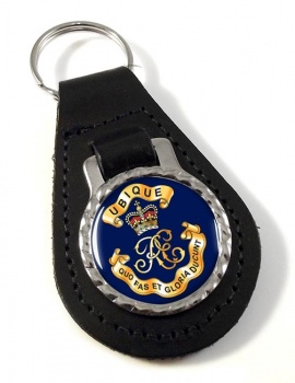 Royal Engineers Cypher (British Army) Leather Key Fob