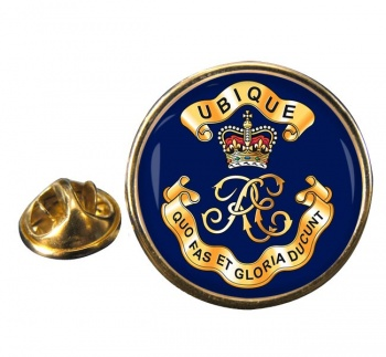 Royal Engineers Cypher (British Army) Round Pin Badge
