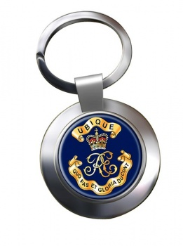 Royal Engineers Cypher (British Army) Chrome Key Ring