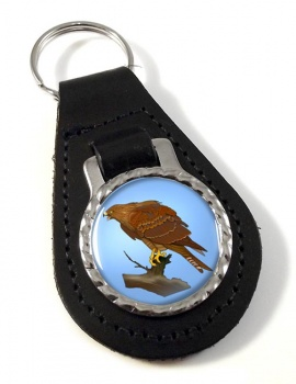 Red Kite Leather Key Fob