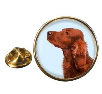 Irish Red Setter Round Pin Badge