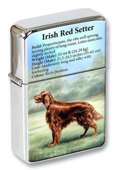 Irish Red Setter Flip Top Lighter