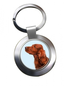 Irish Red Setter Metal Key Ring
