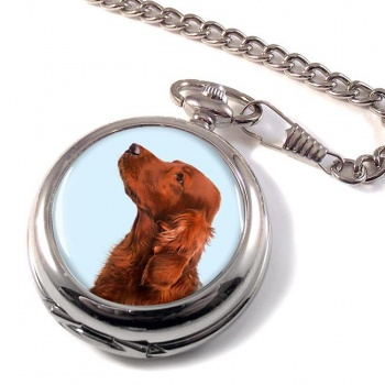 Irish Red Setter Pocket Watch