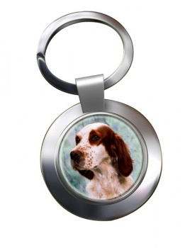 Irish Red and White Setter Metal Key Ring
