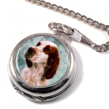 Irish Red and White Setter Pocket Watch