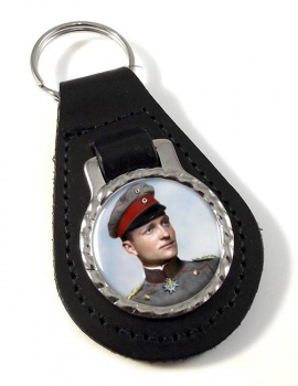 Manfred von Richthofen Leather Key Fob