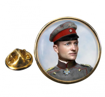 Manfred von Richthofen Round Pin Badge