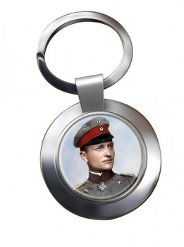 Manfred von Richthofen Chrome Key Ring