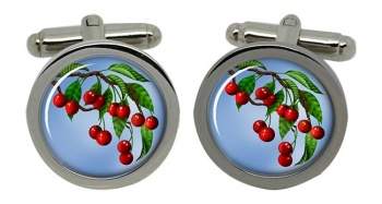 Cherry Tree Round Cufflinks