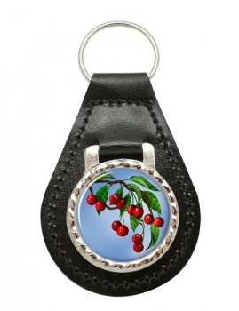 Cherry Tree Leather Key Fob