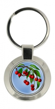 Cherry Tree Chrome Key Ring