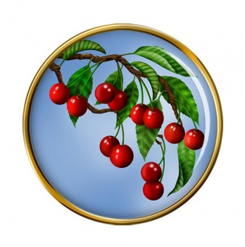Cherry Tree Round Pin Badge