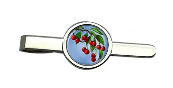 Cherry Tree Round Tie Clip