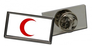 Red Crescent Rectangle Tie Pin