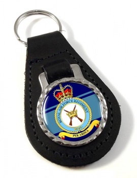 Royal Air Force Regiment Leather Key Fob