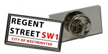 Regent Street Rectangle Pin Badge