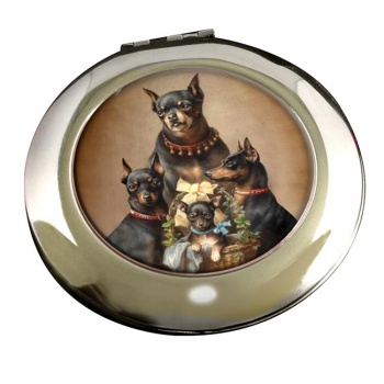 Dobermann family by Carl Reichert Mirror