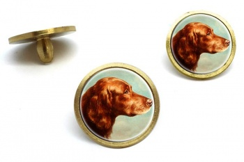 Portrait of an Irish Setter by Carl Reichert  Golf Ball Marker Set