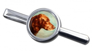 Portrait of an Irish Setter by Carl Reichert Tie Clip
