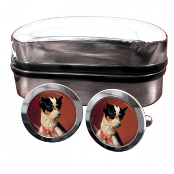 Toy Pinscher by Carl Reichert  Round Cufflinks