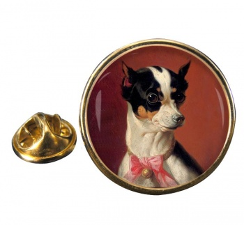 Toy Pinscher by Carl Reichert Round Pin Badge