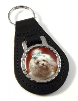 West Highland Terrier by Carl Reichert Leather Key Fob