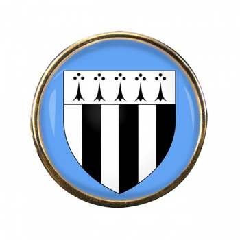 Rennes (France) Round Pin Badge