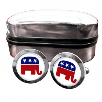 Republican Round Cufflinks
