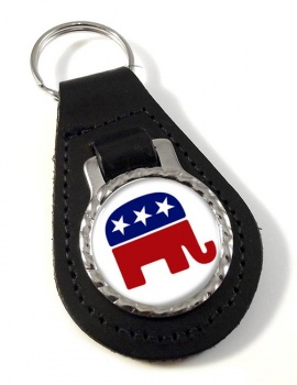Republican Leather Key Fob