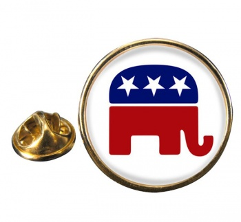Republican Round Pin Badge
