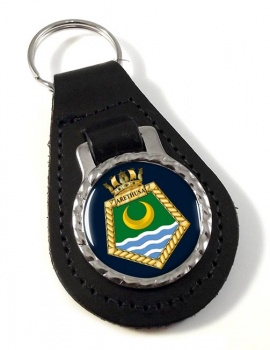 RFA Arethusa (Royal Navy) Leather Key Fob