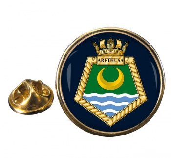 RFA Arethusa (Royal Navy) Round Pin Badge