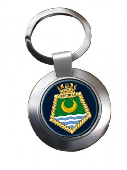 RFA Arethusa (Royal Navy) Chrome Key Ring
