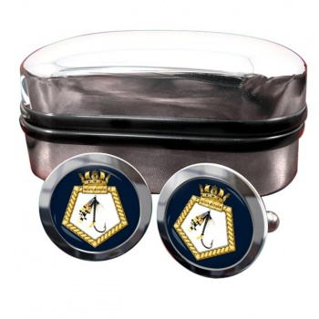 RFA Black Ranger (Royal Navy) Round Cufflinks