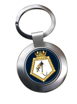 RFA Black Ranger (Royal Navy) Chrome Key Ring