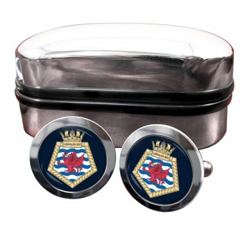 RFA Cardigan Bay (Royal Navy) Round Cufflinks