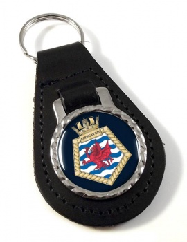 RFA Cardigan Bay (Royal Navy) Leather Key Fob