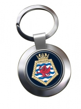 RFA Cardigan Bay (Royal Navy) Chrome Key Ring
