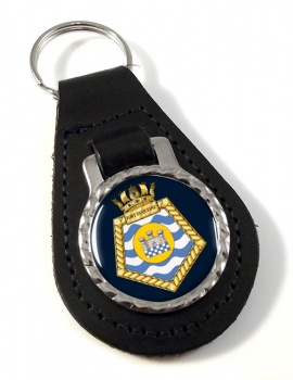 RFA Fort Duquiesne (Royal Navy) Leather Key Fob