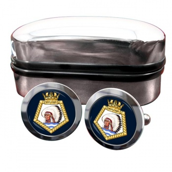 RFA Wave Chief (Royal Navy) Round Cufflinks